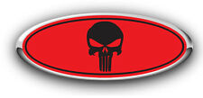 Ford F250/F350 2008-2010 Overlay Emblem Decal Punisher RED/BLACK GRILLE ONLY