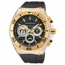 Technomarine TM-118123 Cruise Men's 46mm Chronograph Gold-Tone Black Dial Watch
