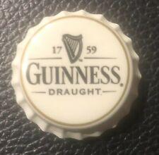 GUINNESS DRAUGHT Beer bottle cap magnet breweriana promo item