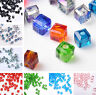100pcs 4mm Crystal Glass Cube Square Faceted Loose Spacer Beads Jewelry Making