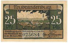Notgeld - Stadt Neubrandenburg - 25 Pfennig - 1921 - Motiv 3