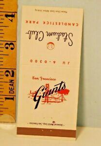 1964 San Francisco Giants Stadium Club Matchbook Home Schedule
