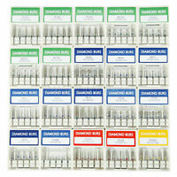 50 DENTAL FRESE DIAMANTATE PER TURBINA DENTISTA ODONTOTECNICO FG 1.6mm PUNTE BUR