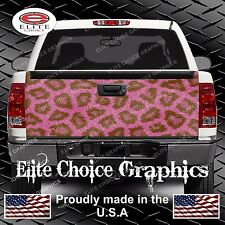 Pink Leopard Print Truck Tailgate Wrap Vinyl Graphic Decal Sticker Wrap