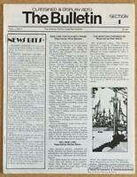 Science Fiction Classified Bulletin #1 SF fanzine D&D Dungeons and Dragons 1979