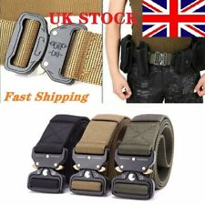 Adjustable Mens Belt Military Tactical Army Combat Waistband Rescue Rigger UK