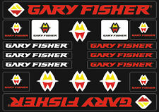 Gary Fisher Mountain Bicycle Frame Decals Stickers Adhesive Set Vinyl Red