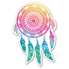 Rainbow Dreamcatcher Sticker New Age Mandalas Stained Glass #6917EN