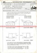 MOTOBECANE Hobby 50 EW : Note N°10361 'Embrayage / Variateur'