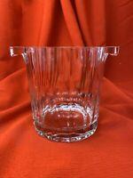 Heavy Glass Vintage Ice Bucket w/Metal Handle