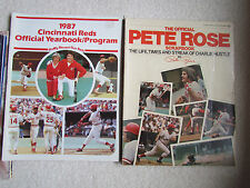 Pete Rose Official Scrapbook Vintage 1978 AND 1987 Cincinnati Reds Yearbook
