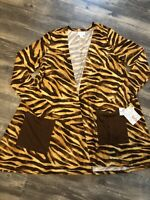 Lularoe CAROLINE Cardigan 🐅 NWT Gorgeous Animal Leopard 🐅 Small Tiger Sweater