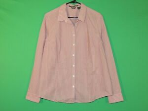 Eddie Bauer Womens Size XL Extra Large Striped Stretch Wrinkle Resistant Shirt