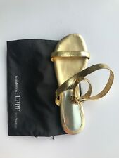 Gianfranco Ferre leather sandals in gold color US 6.5/FR 36.5