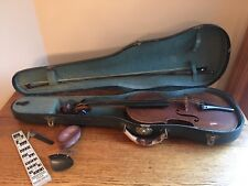 Antique Violin, Hard Case, Bow w/Mother of Pearl, Accessories; Germany