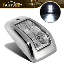 High Powered 6 LED Top Clearance Cab Marker Clear/White Light Assembly Universal