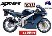 Kawasaki ZX6 R ZX-6R Ninja 1998-1999-2000-2001-2002 IXIL Bk HEX-OV B/O Exhaust