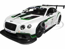 BENTLEY CONTINENTAL GT3 WHITE #7 1/24 DIECAST CAR MODEL BY BBURAGO 28008