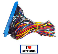 Jamma Arcade Cable Harness Wire Blue 12 action buttons 28 pin