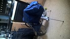 Vintage Mizuno Osaka Series Double Strap Carry Stand Bag Blue RARE