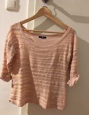 H&M Cardigan Pullover Top Shirt Rosa Metallic Glitzer Gold Apricot Gr.XS/S 34-36