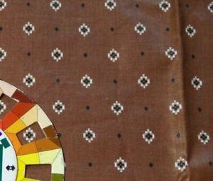 "Fabric- Brown Geometric Print Screen Print Concord 22"""