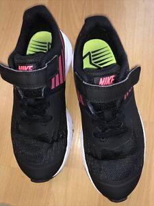 Girls black Nike Running trainers size 13