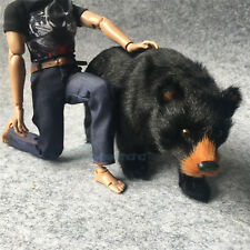 "1/6 BLACK BEAR MODEL The Simulation Animal Series 12"" Action Figure Set 1:6 Toy"