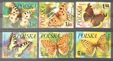- Polen Poland 1977 Mi. Nr. 2516-2521 ** postfrisch MNH Schmetterlinge butterfly