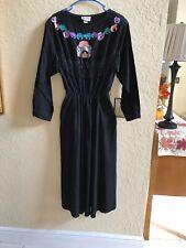 Vintage SASSA Western Cowgirl Rodeo Square dance Costume Dress Black Large