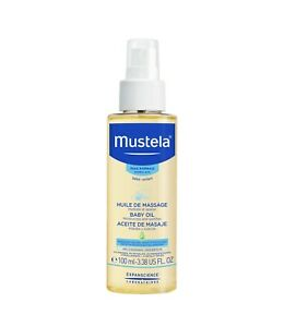 Mustela Baby Moisturizing Oil with Natural Avocado Oil, 3.38 oz
