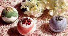 Bath Bombs - Fizzies - Floral 3 pack -  Luxurious, Organic FIZZY Great gift
