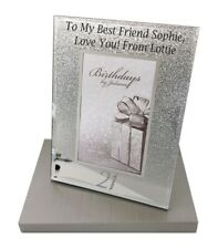 Personalised 21st Birthday Gifts Photo Frame Picture Men Women Silver Age 21 Her