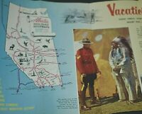 Alberta Canada Vintage Travel Brochure Vacations Unlimited Holiday Highways Map