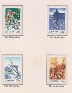 (F45-51) 1979 AU set of 4stamps Fishing in Australia (AZ) $20.00