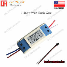 Constant Current LED Driver 6W 1-2X3W DC 2-6.8V 600mA Lamp Bulb Power Supply USA