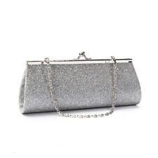 Women Glitter Clutch Purse Evening Party Wedding Banquet Handbag Shoulder Bag v