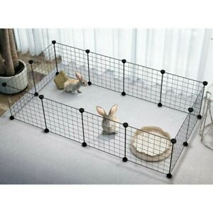 Foldable Cat Dog Playpen Iron Fence Pet Puppy Exercise Cage Stainless Steel