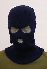 BALACLAVA THREE HOLE NEW SKI ARMY MASK FISHING SNOWBOARD  SAS STYLE NAVY