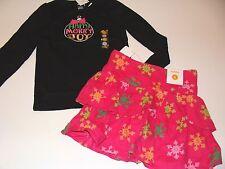 Gymboree Cheery All The Way Girls Size 5 Black Rhinestone Top Snow Skirt NWT