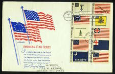 US FDC Historic Flag Series SC#1345-54,7/4/68 Hope,Liberty,Don't Tread on Me 8