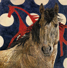 Judy Larson THE HORSE TIPI, Native American, Giclee Canvas #98