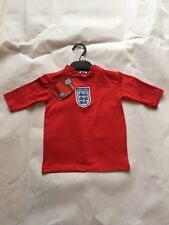 BRAND NEW: Kids Boys Age 2-3 Years England Football Shirt Sun Red Vest 40+ UV