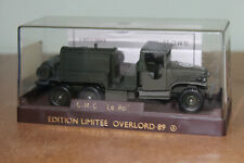 SOLIDO MILITARY D DAY OVERLORD 1989 COLLECTION  1:50 GMC TRUCK LE ROI