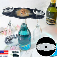 Wine Rack Tray Silicone Mold Wine Glass Goblet Holder Coaster Epoxy Resin Mould