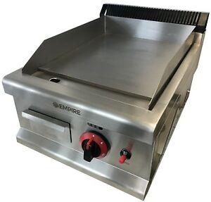 Commercial Kitchen Gas Hotplate Table Top Griddle Heavy Duty 40cm Burger Grill