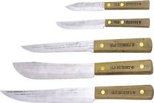 "Old Hickory Knives OH705 Carbon Steel Kitchen Set Contains 8"" Slicer 7"" Butcher"