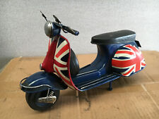 Union Jack Colours Tin Model Scooter Vespa Ideal For Adults and Children