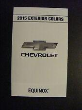 2015 CHEVROLET EQUINOX DEALERSHIP EXTERIOR COLOR CHART NEW