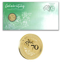 Australia 2019 70 Years of Australian Citizenship Stamp & $1 UNC Coin Cover- PNC